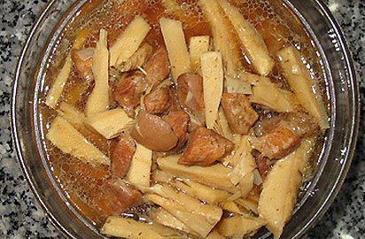 Stewed Dried Bamboo Shoot With Caramel