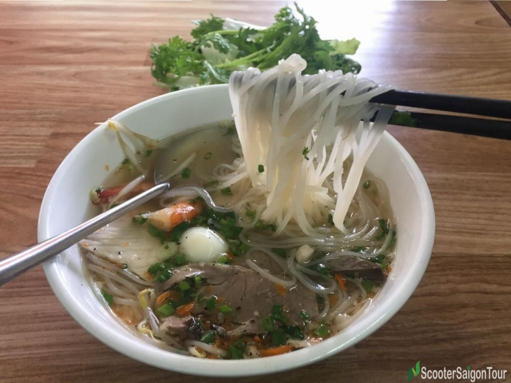 Clear Rice Noodle Soup Or Hu Tieu In Vietnam