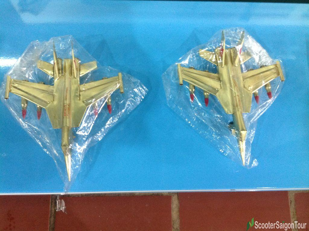 Vietnamese Helicopter Made Of Bullet Shells Souvenirs In Cu Chi Tunnels
