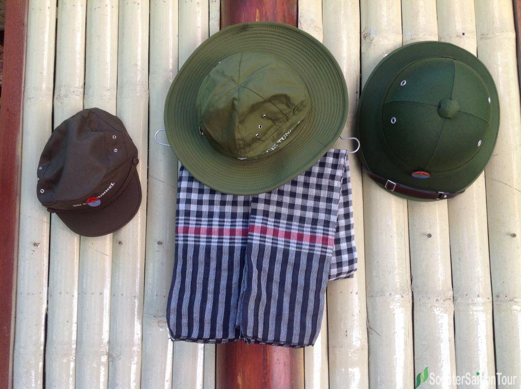 Green Hat Souvenirs In Cu Chi Tunnels