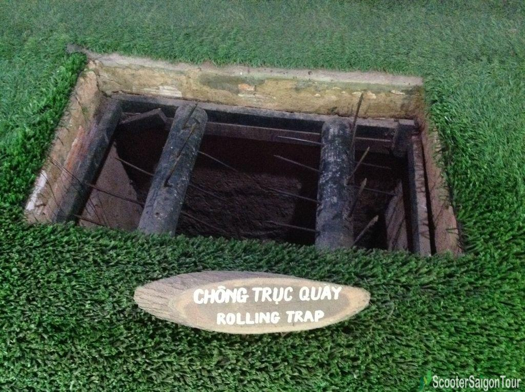 Rolling Trap In Cu Chi Tunnels