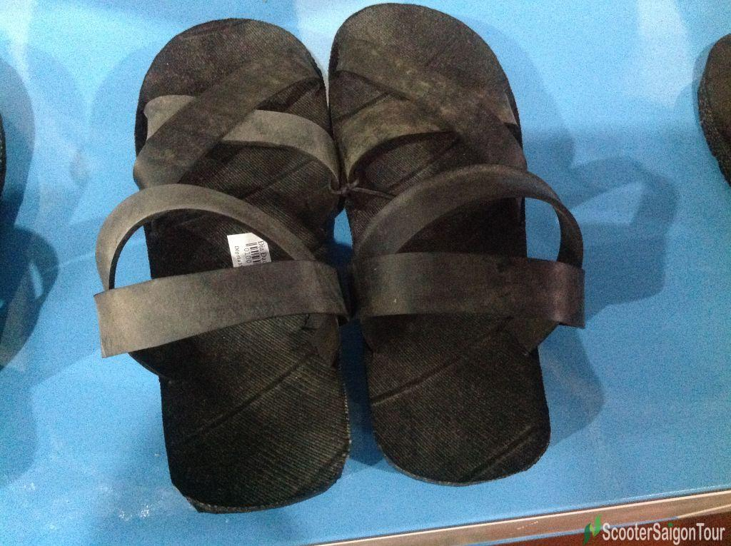 Souvenirs Made Of Used Tyre Cu Chi Tunnels Sandals