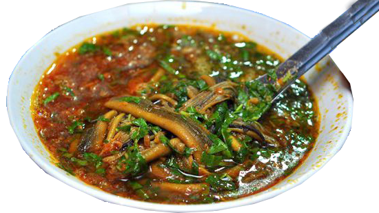 Congee with eel in Nghe An Vietnam