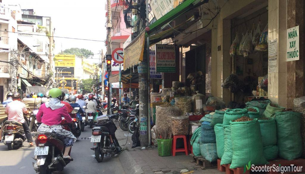 Chinese Herbal Medicine Street In China Town Saigon