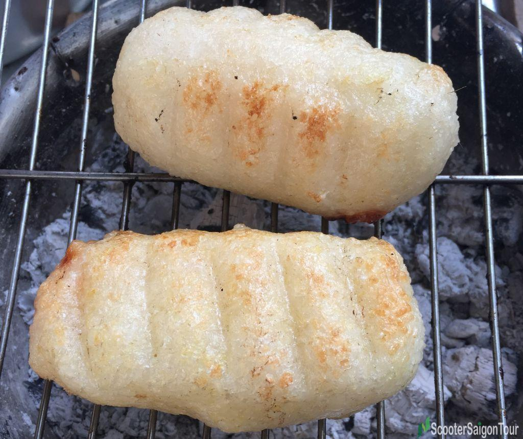 Grilled Banana Wrapped In Steamed Sticky Rice Or Chuoi Nep Nuong