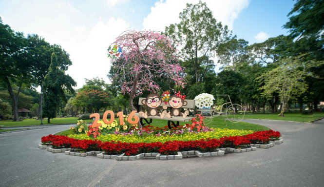 saigon sping flower festival at tao dan park - one of the most famous Saigon Spring Flower Festivals