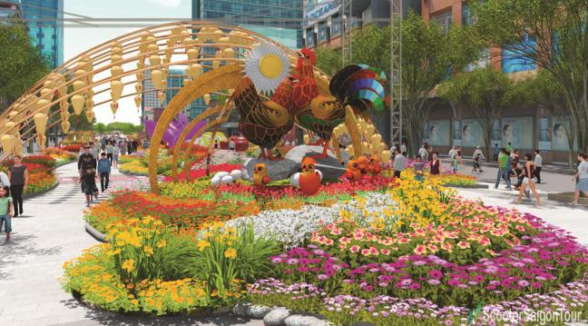 FLOWER FESTIVAL ON NGUYEN HUE STREET