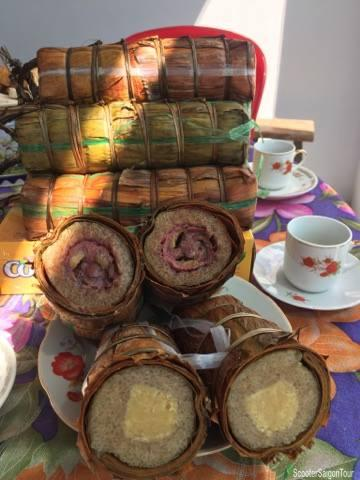 Vietnamese Cylindrical Sticky Rice Cake Or Banh Tet 2
