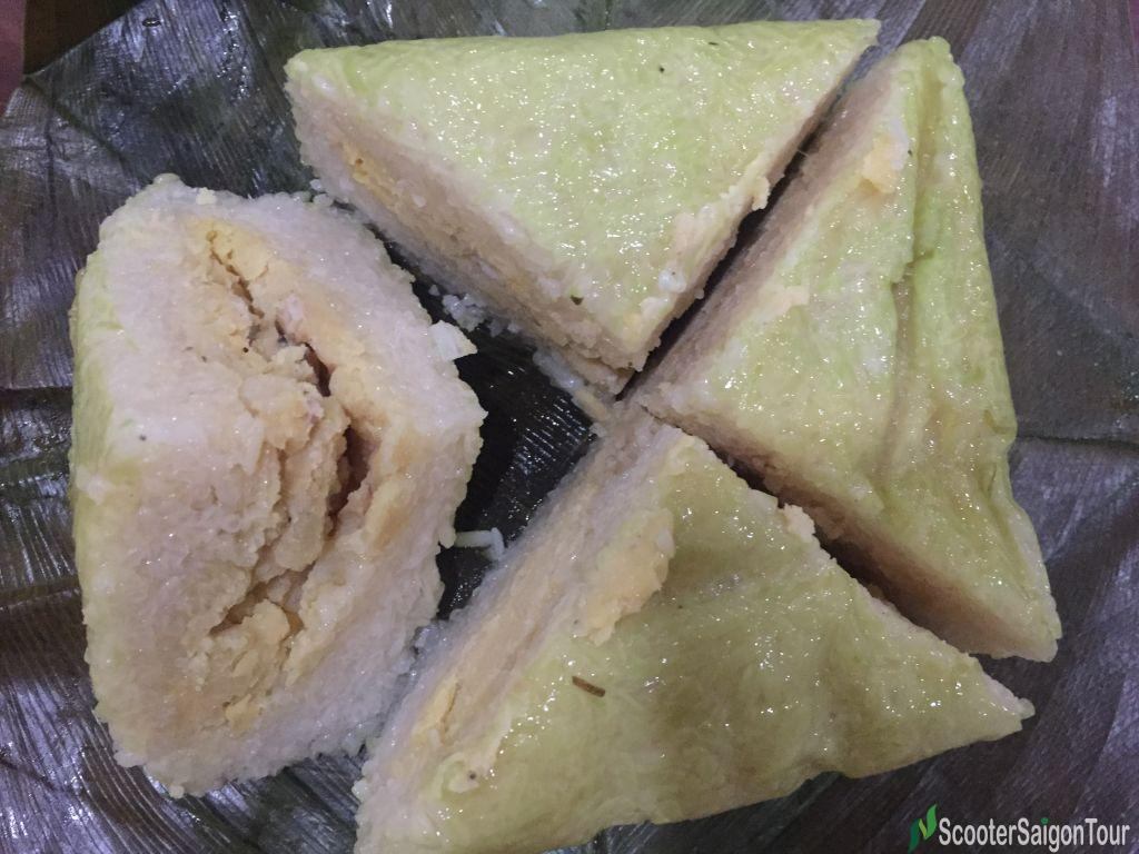 Vietnamese Square Sticky Rice Cake Or Banh Chung 4