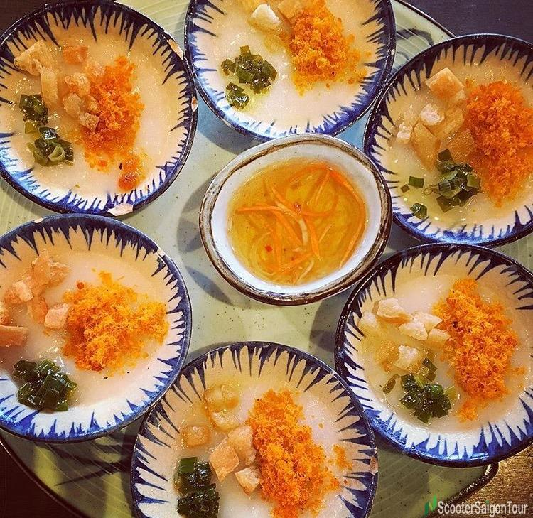 Bloating Fern Shaped Cake Or Banh Beo In Vietnam