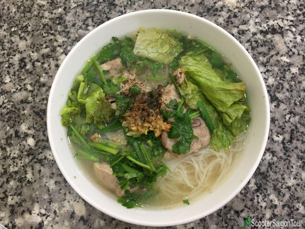 Clear Rice Noodle Soup With Pork