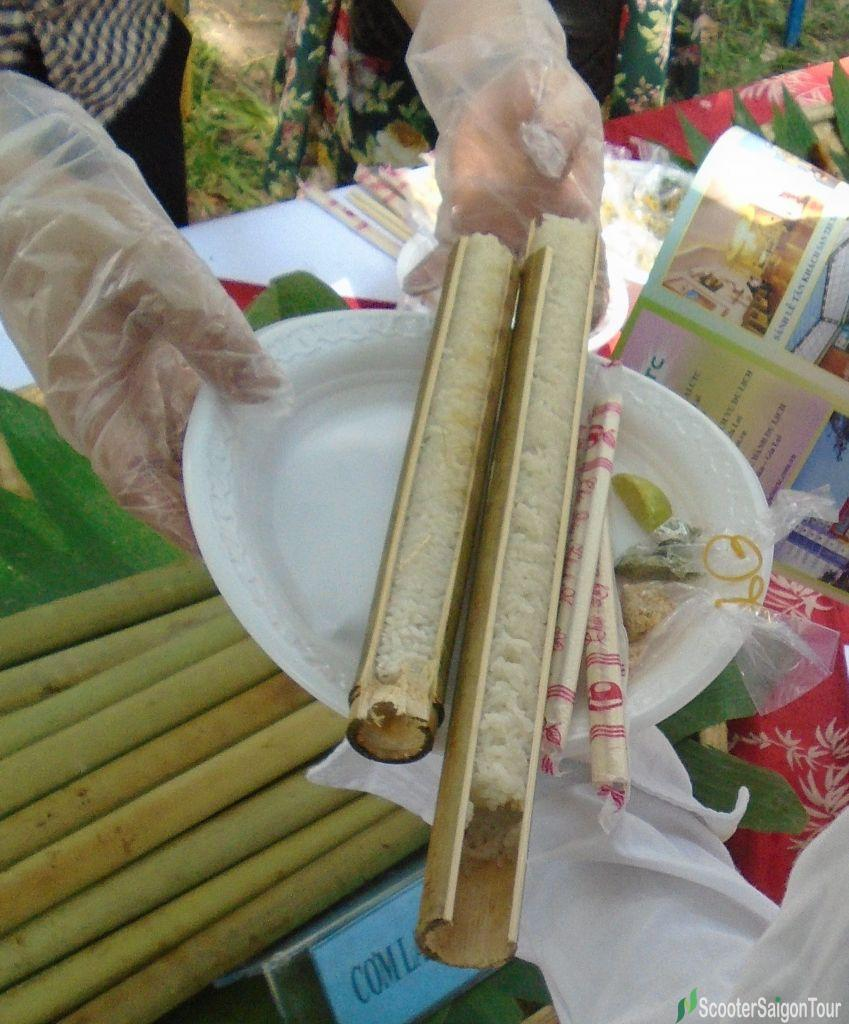 Com Lam Vietnamese sticky rice in bamboo