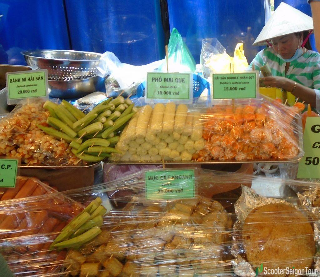 Foods On A Stick In Saigon