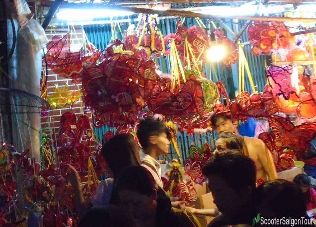 Lantern Market On Luong Nhu Hoc Street At Mid Autumn Festival