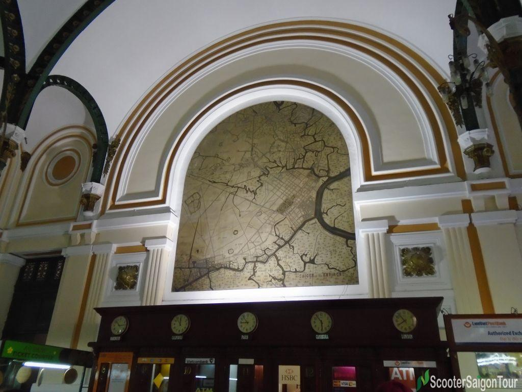 Map Inside Saigon Central Post Office Tracy 2