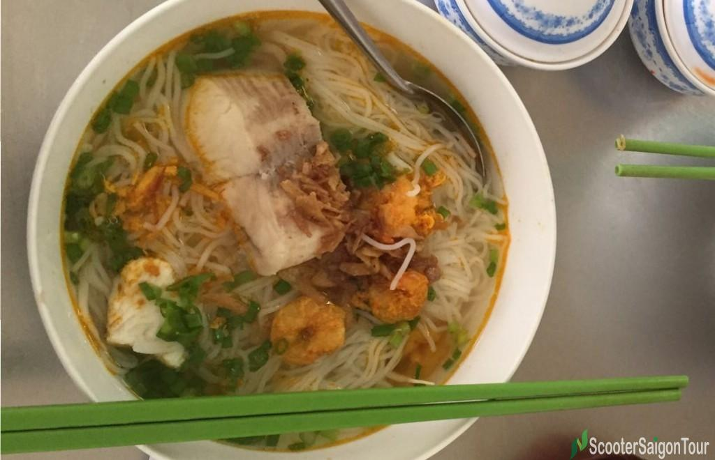 Rice Noodle Soup With Fish