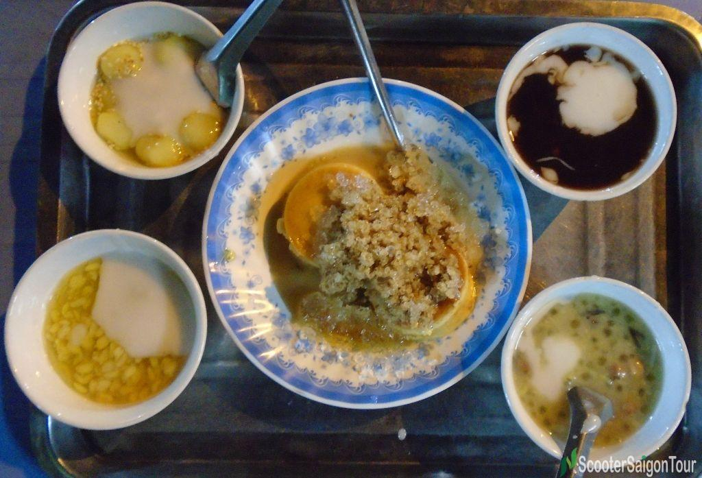 Set Of Vietnamese Sweet Soup At Khanh Vy Sweet Soup Stall Saigon