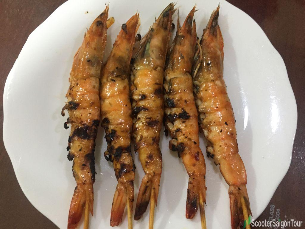Grilled Shrimp In Vietnam Or Tom Nuong