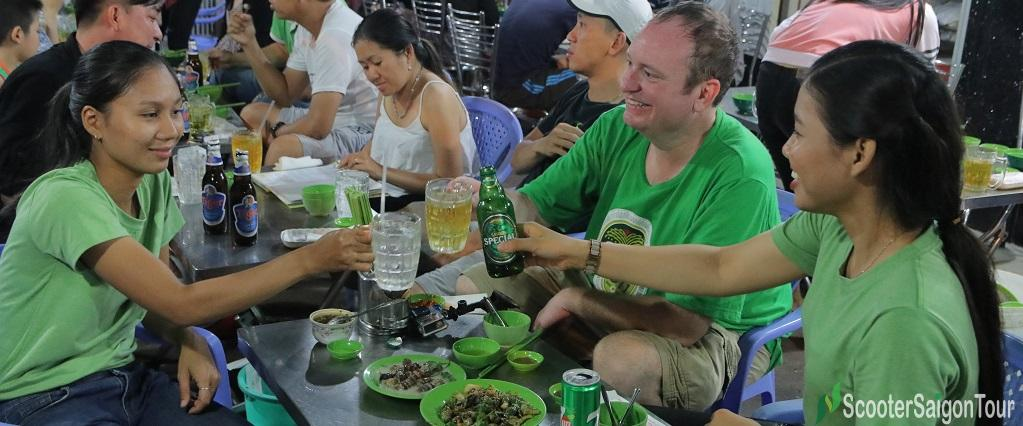 Night Saigon Food Tour By Motorbike 6