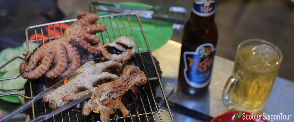 Vietnamese Barbecue Night Saigon Food Tour By Motorbike 5