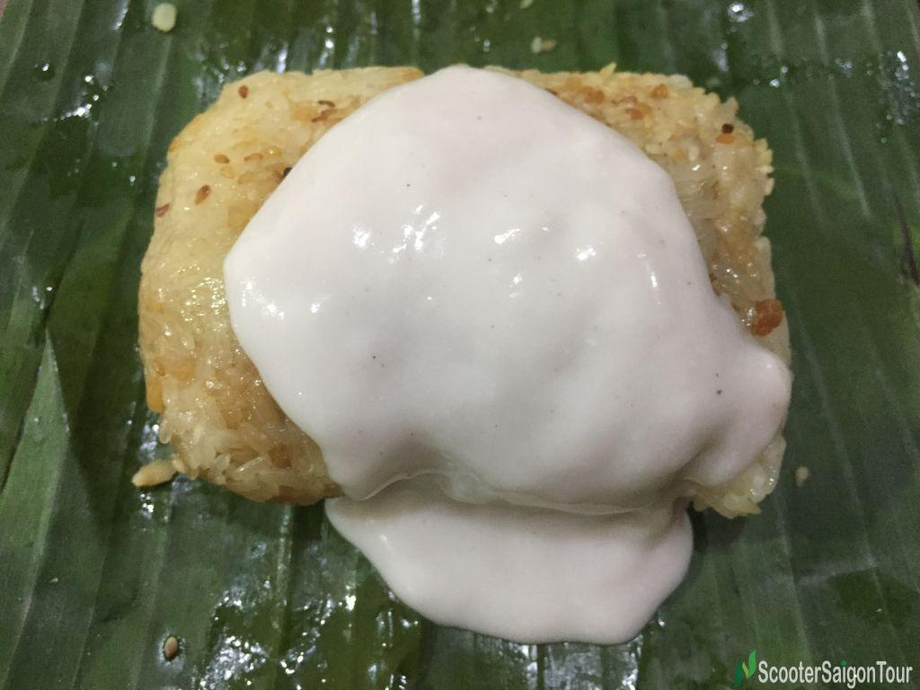 Vietnamese Steamed Sticky Rice With Coconut Cream Or Xoi Voi Nuoc Cot Dua