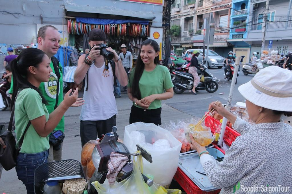 Mixed Rice Paper Sold On Motorbike In China Town Saigon
