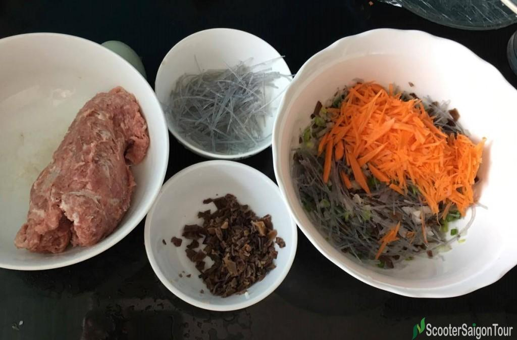 Ingredients To Make Vietnamese Fried Roll