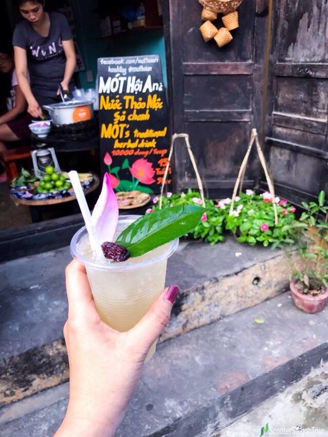 Refreshing Drink With Herbs In Hoi An