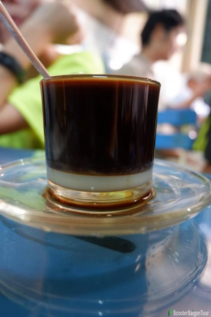 Hot Coffee With Condensed Milk In Saigon