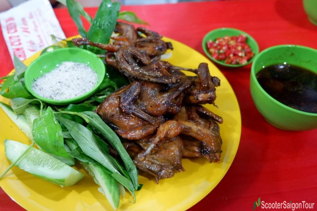 Fried Quail With Butter In Vietnam