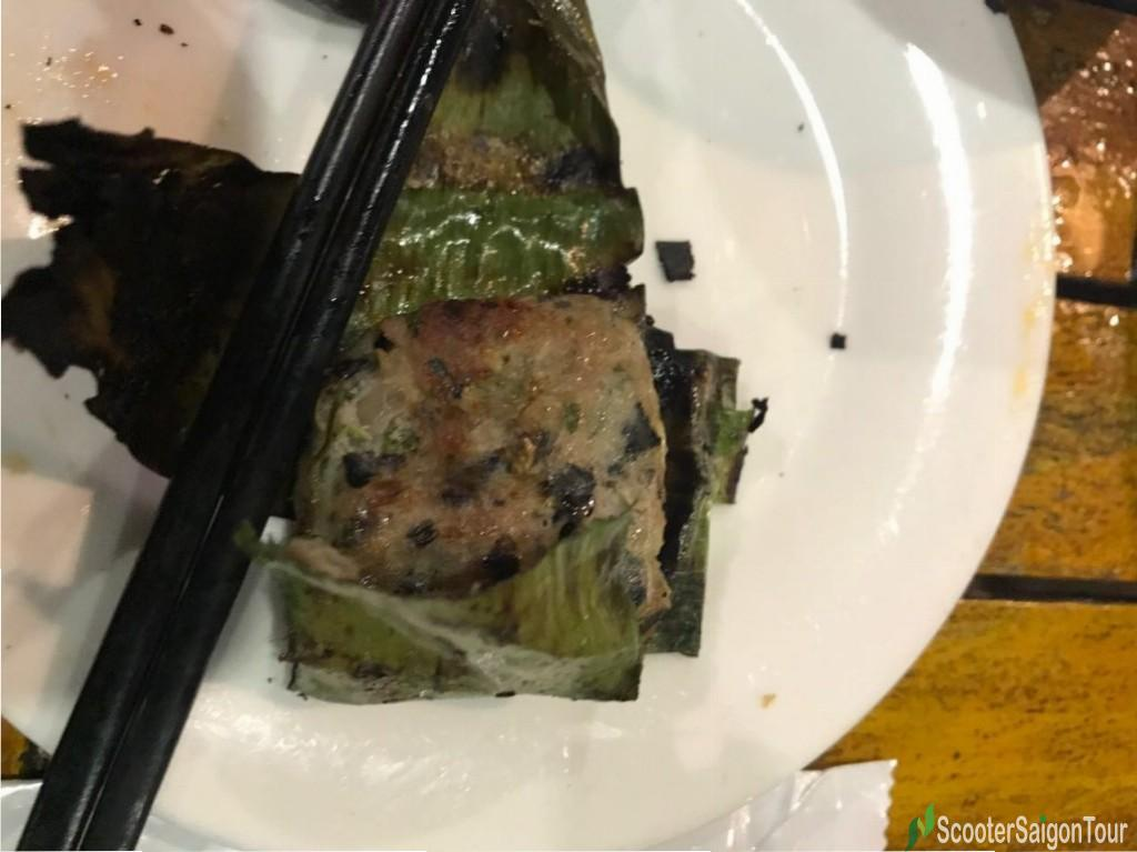 Grilled Snail Patty In Banana Leaves 2