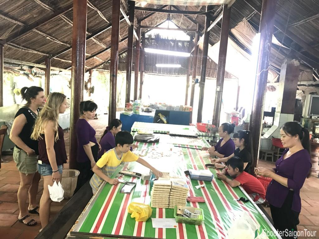 Learning How To Make Coconut Candy In Mekong Delta