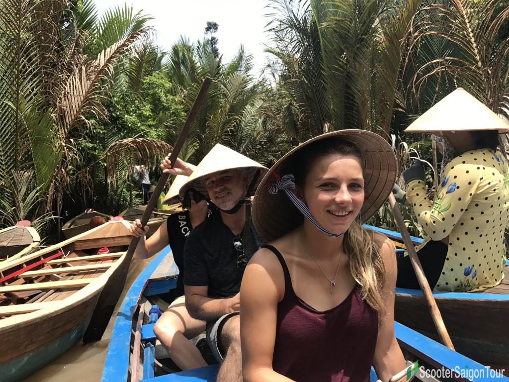 Rowing Sampan In Mekong Delta 2