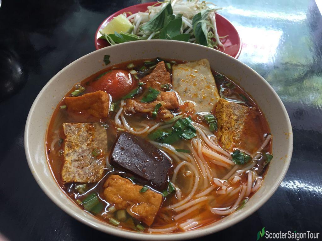 Crab Rice Noodle Soup In Vietnam 2