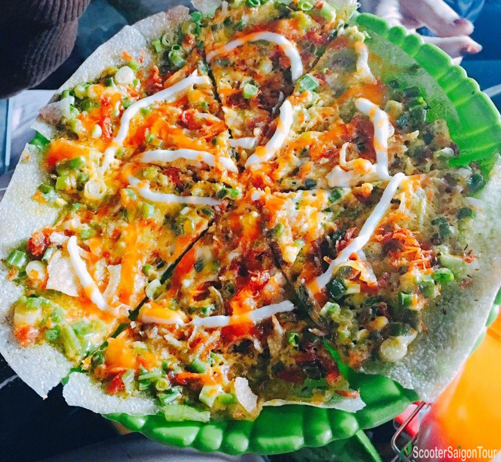 Grilled Rice Pancake In Saigon, Vietnam